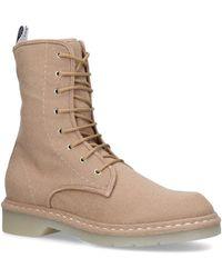 Max Mara Baker Cashmere Combat Boots - Natural