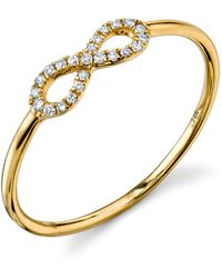 Sydney Evan - Yellow Gold Infinity Ring - Lyst