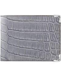 Cartier Alligator Must De Bifold Wallet - Grey