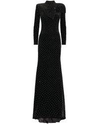Jovani Crystal-embellished Velvet Gown - Black