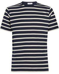 Sunspel Cotton Striped T-shirt - Multicolor