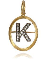 Annoushka - Yellow Gold And Diamond Initial K Pendant - Lyst