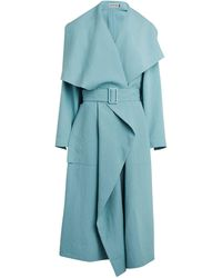 Issey Miyake Belted Wrapped Coat - Blue