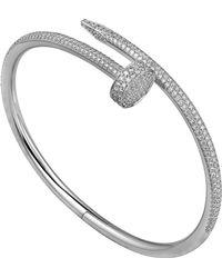 Cartier - White Gold Juste Un Clou Diamond Bracelet - Lyst