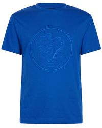 Stefano Ricci Dragon Embroidered T-shirt - Blue