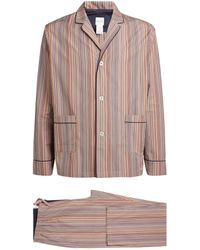 Paul Smith Cotton Multi Stripe Pajama Set - Multicolor