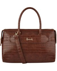 Harrods - Chatsworth Croc Effect Bag - Lyst