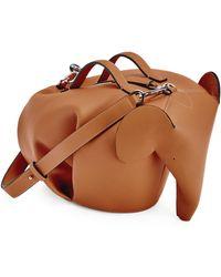 Loewe Leather Elephant Bag - Brown