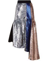 Fyodor Golan - Mirage Dropped Hem Sequin Skirt - Lyst