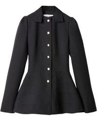 Loewe Wool Peplum Jacket - Blue
