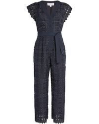 Claudie Pierlot Lace-trim Jumpsuit - Blue