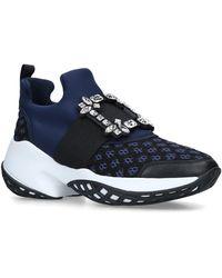 Roger Vivier Viv' Run Strass Buckle Sneakers - Blue