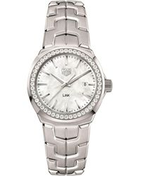 Tag Heuer Link Ladies Diamond White Mother Of Pearl Watch