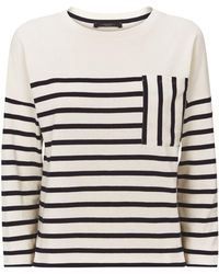 Weekend by Maxmara - Cotton Breton Stripe Sweater - Lyst