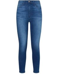 PAIGE Margot Super-skinny Cropped Jeans - Blue