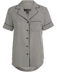 Rag & Bone Luca Striped Pyjama Top - Grey