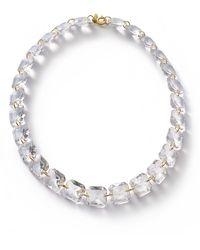 Baccarat Yellow Gold And Crystal Marie-hélène De Taillac Necklace - Metallic