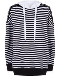 N°21 - Jewelled Striped Hoodie - Lyst