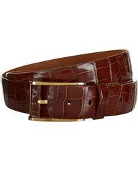 Zilli Crocodile Skin Belt - Brown