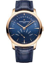 Vacheron Constantin Rose Gold Patrimony Retrograde Day-date Watch 42.5mm - Blue