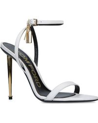 735aa0c4bea4 Lyst - Tom Ford Platform Leather Ankle-lock Sandals in Black