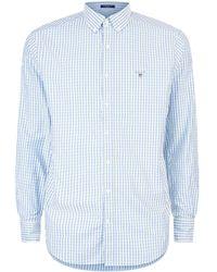 GANT - Dobby Check Print Shirt - Lyst