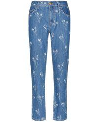 Current/Elliott - Fling Flower Print High-rise Jeans - Lyst