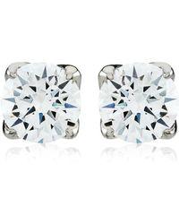 Carat* - 1ct Round Cut Stud Earrings - Lyst