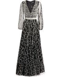 Jovani Embellished Tulle Gown - Black