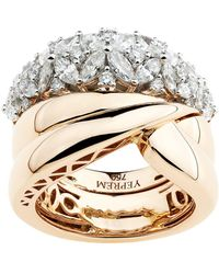 YEPREM - Rose Gold Cluster Ring - Lyst