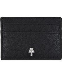 Alexander McQueen - Grained Leather Skull Card Holder - Lyst
