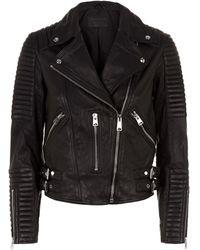 AllSaints - Estella Leather Biker Jacket - Lyst