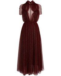 Emilia Wickstead Glitter-embellished Gabriel Dress - Purple