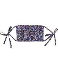 RIXO London Floral Print Face Covering - Purple