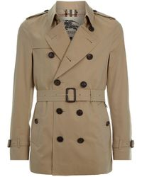 Burberry - Sandringham Short Heritage Trench Coat - Lyst