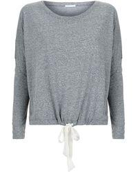 Eberjey Heather Pyjama Top - Gray