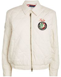 Polo Ralph Lauren Quilted Cotton Bomber Jacket - Natural