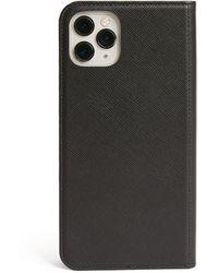 Montblanc Leather Sartorial Iphone 12 Mini Flip Case - Black