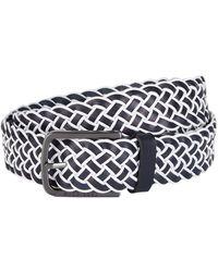 BOSS - Leather Braided Belt - Lyst