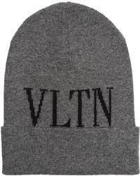 Valentino - Logo Beanie Hat - Lyst