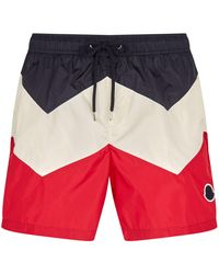 a961e0f8cd66e Moncler Classic Swimming Shorts in Yellow for Men - Lyst
