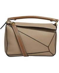 Loewe Small Leather Puzzle Bag - Natural