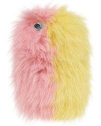 Charlotte Simone - Fox Fur Iphone Case, Yellow, One Size - Lyst