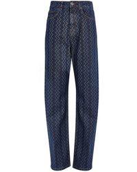 Missoni Cotton-rich Zigzag Jeans - Blue