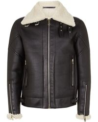 Paul Smith - Leather Aviator Jacket - Lyst
