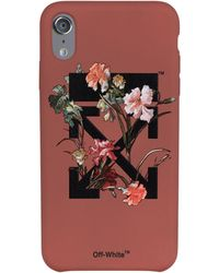 Off-White c/o Virgil Abloh - Arrows Floral Print Iphone Xs Max Case - Lyst