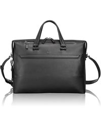 Tumi - Gates Leather Briefcase - Lyst