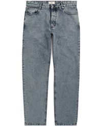 AMI Acid-Wash Straight Jeans - Blau