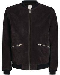 Sandro Leather Jacket - Blue