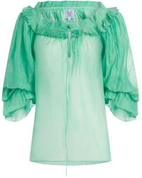 Thierry Colson Roussia Blouse - Green
